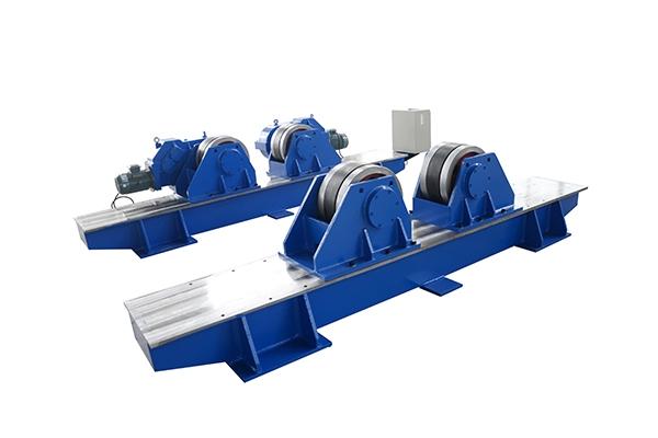 介绍滚轮架的滚轮电流断续通过工件